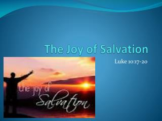 The Joy of Salvation