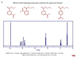 Which of the following molecules matches the spectrum below?