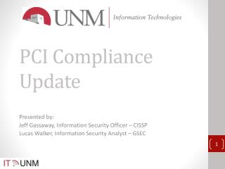 PCI Compliance Update