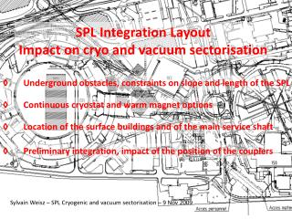 SPL  Integration Layout Impact on  cryo  and vacuum sectorisation