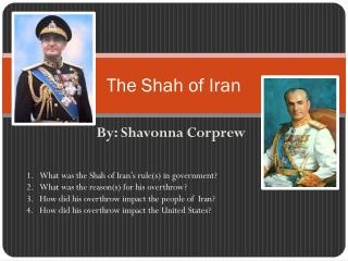The Shah of Iran