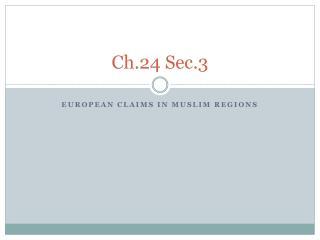 Ch.24 Sec.3