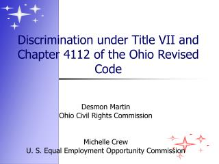 Discrimination under Title VII and Chapter 4112 of the Ohio Revised Code