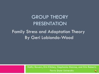 Group Theory  Presentation