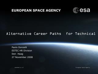 Paolo Donzelli ESTEC HR Division Den  Haag 27 November 2008
