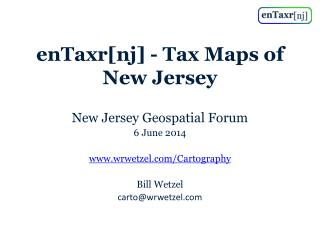 enTaxr [ nj ] - Tax Maps of New Jersey