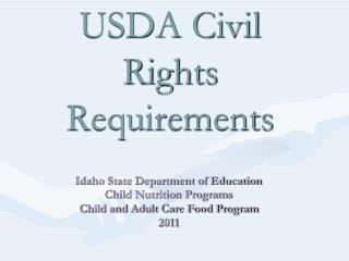 USDA Civil Rights Requirements