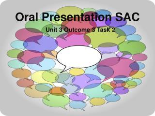 Oral Presentation SAC
