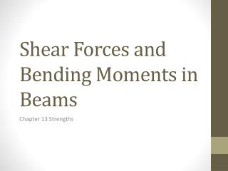 Shear Forces and Bending Moments in Beams