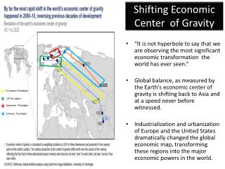 Shifting Economic Center  of Gravity