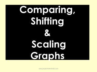 Comparing, Shifting  &  Scaling Graphs