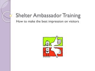 Shelter Ambassador Training