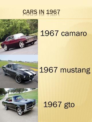 Cars in 1967