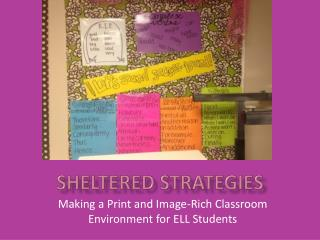 Sheltered Strategies