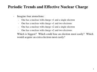Periodic Trends and Effective Nuclear Charge