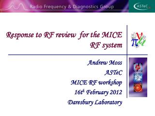 Response to RF review  for the MICE RF system