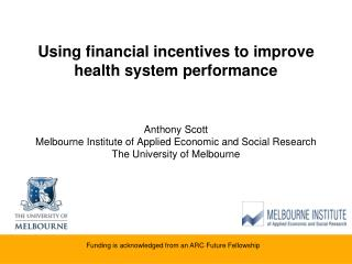 Using financial incentives to improve health system performance