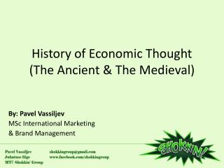 History of Economic Thought (The Ancient & The Medieval)
