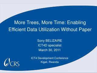 More Trees, More Time: Enabling Efficient Data Utilization Without Paper