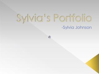 Sylvia's Portfolio