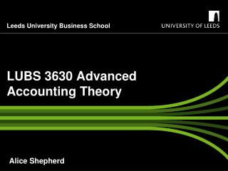 LUBS 3630 Advanced Accounting Theory