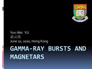 GAMMA-RAY BURSTS AND MAGNETARS