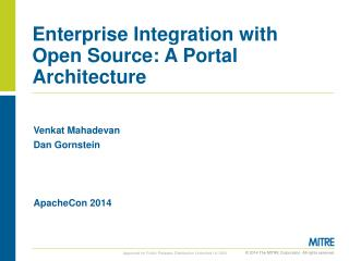Enterprise Integration with Open Source: A Portal  Architecture