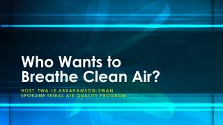 Who Wants to Breathe Clean Air?