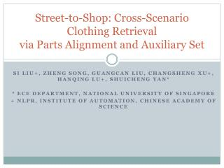 Street-to-Shop: Cross-Scenario Clothing Retrieval via Parts Alignment and Auxiliary Set