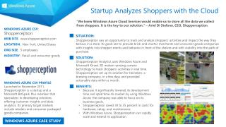 WINDOWS AZURE CSV :  Shopperception WEB SITE :   shopperception