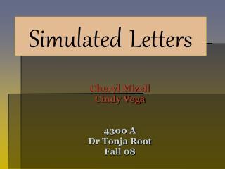Cheryl Mizell Cindy Vega 4300 A Dr Tonja Root Fall 08