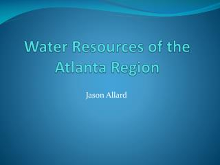 Water Resources of the Atlanta Region