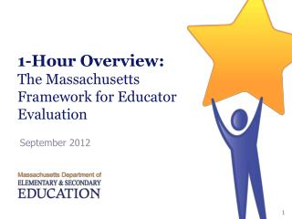 1-Hour Overview: The Massachusetts Framework for Educator Evaluation