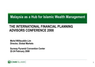 Malaysia as a Hub for Islamic Wealth Management