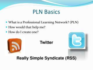 PLN Basics