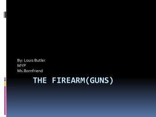 The firearm(Guns)