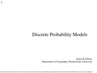 Discrete Probability Models