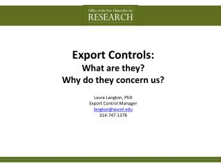 Export Controls:  What are they?