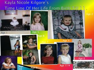Kayla Nicole  Kilgore's Time Line Of Her Life From Birth Till  11.