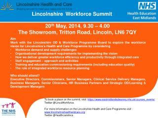 Lincolnshire Workforce Summit