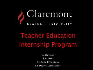 Teacher Education  Internship Program