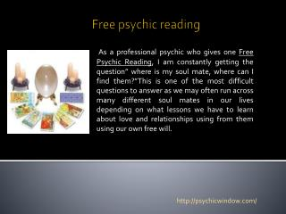 Psychic readings
