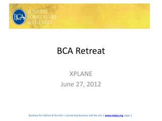 BCA Retreat