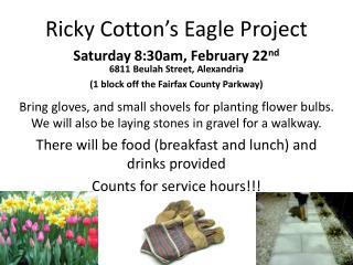 Ricky Cotton's Eagle Project