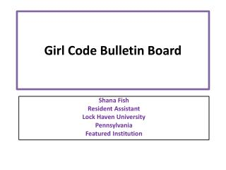 Girl Code Bulletin Board