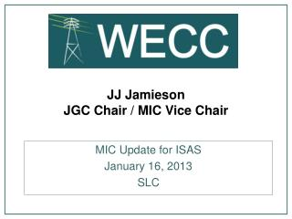 JJ Jamieson JGC Chair / MIC Vice Chair