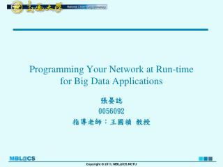 Programming Your Network at Run-time for Big Data Applications