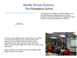 Middle School Science  The Philadelphia School