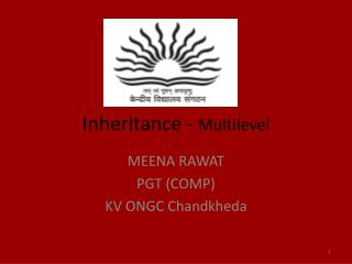 Inheritance -  Multilevel