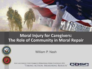 Moral Injury for Caregivers: The Role of Community in Moral Repair